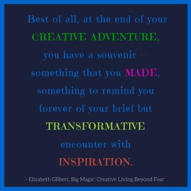 Big Magic Souvenir Quote